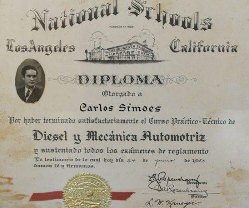 Diploma Carlos Simões